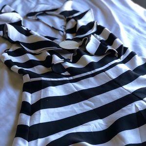 Black and white romper